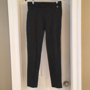 Dark gray stretch pants